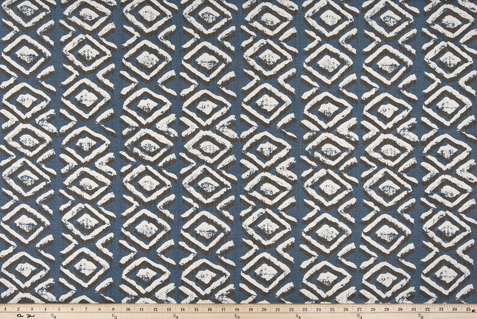 Outdoor Fabric - Sapo Slate Blue Luxe Polyester