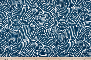 picture of tropical inspired abstract pattern printed on outdoor beach patio fabric