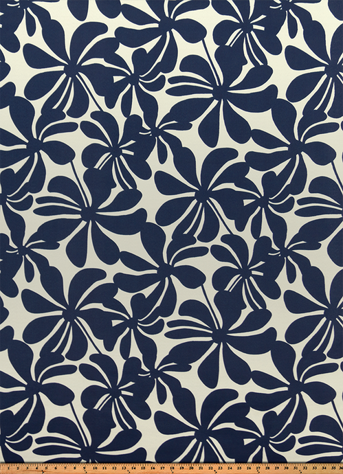 Outdoor Fabric - Twirly Deep Blue