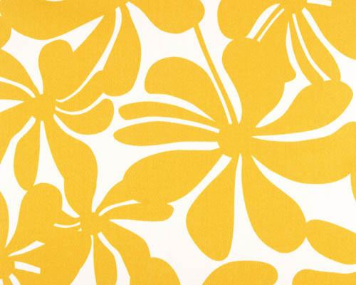 Outdoor Fabric - Twirly Yellow