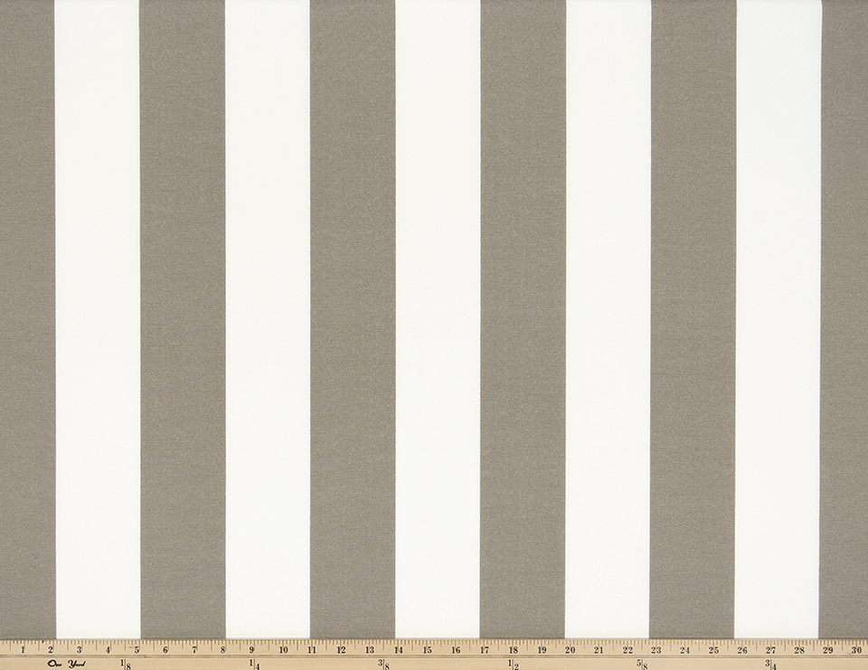 Photo of beige tan repeating classic stripe pattern printed on white fabric