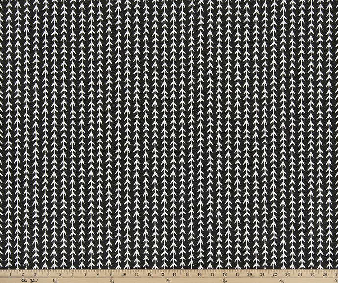 Outdoor Fabric - Vine Black