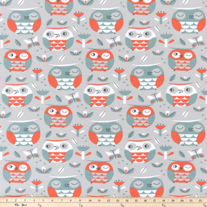 owl fabric for kids by premier prints