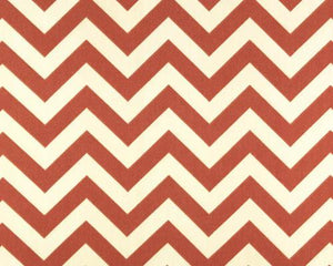 photo of brown zigzag chevron pattern printed on white fabric
