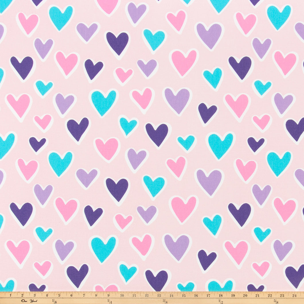 Paper Hearts Bella Fabric By Premier Prints