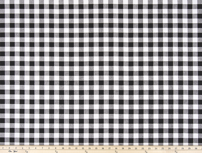 Plaid Black Fabric By Premier Prints