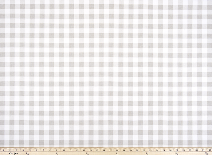 Plaid French Grey Fabric By Premier Prints