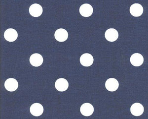 Polka Dot Blue White Fabric By Premier Prints
