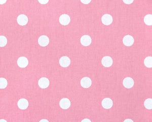 Polka Dot Baby Pink White Fabric By Premier Prints