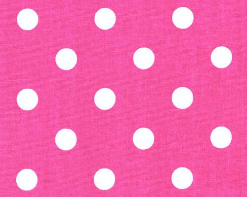 Polka Dot Candypink White Fabric By Premier Prints