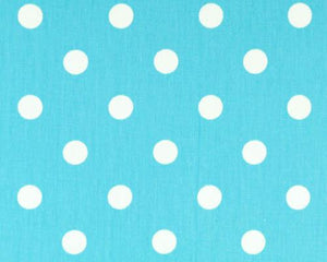 Polka Dot Girly Blue White Twill Fabric By Premier Prints