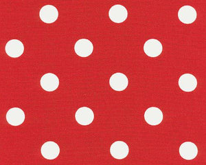 Polka Dot Lipstick White Fabric By Premier Prints