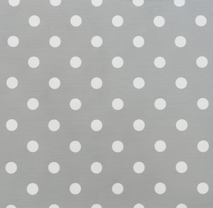 Polka Dot Storm White Twill
