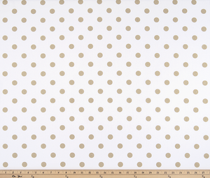 Polka Dot White Athena Gold Fabric By Premier Prints