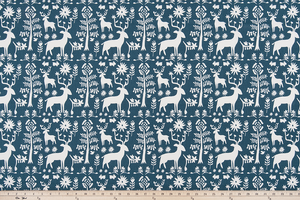 Promise Land Premier Navy Twill Fabric By Premier Prints