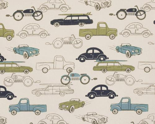 Retro Rides Felix Natural Fabric By Premier Prints