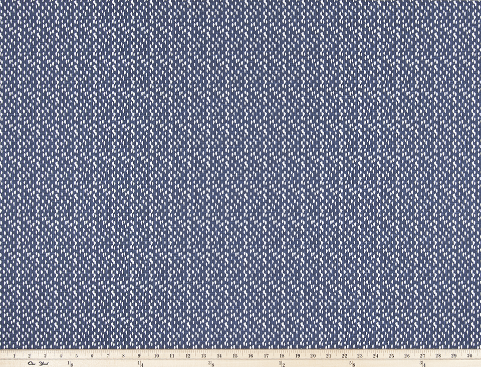 Riverbed Regal Navy Slub Canvas Fabric By Premier Prints