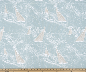 Sail Away Spa Blue Fabric By Premier Prints