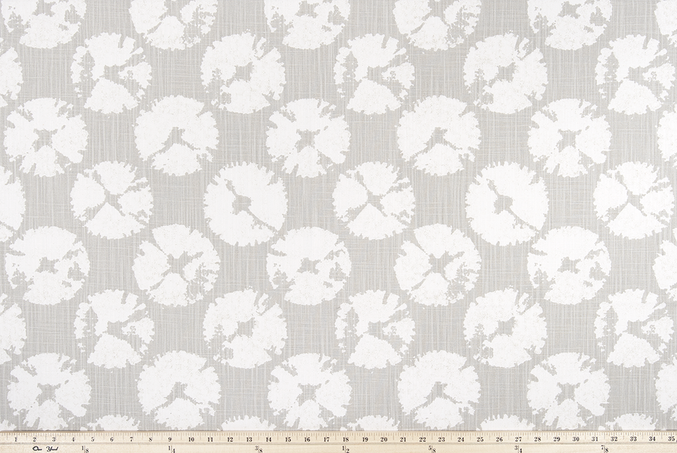 Sand Dollar French Grey Slub Canvas Fabric By Premier Prints
