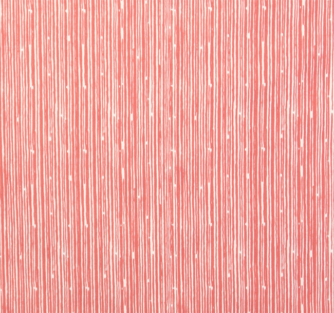 Scribble Coral White Fabric By Premier Prints