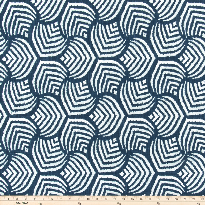 Sea Jewel Italian Denim Slub Canvas Fabric By Premier Prints