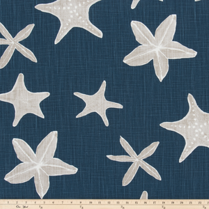 Sea Life Italian Denim Slub Canvas Fabric By Premier Prints