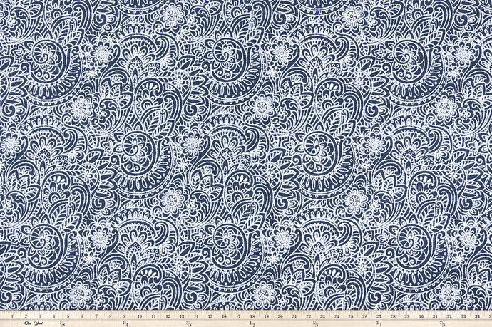 Segovia Italian Denim Slub Canvas Fabric By Premier Prints