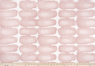 pink or blush shibori printed fabric picture oval geometric pattern
