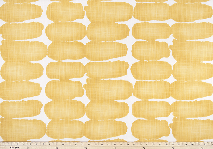 yellow shibori dot fabric photo oval geometric pattern