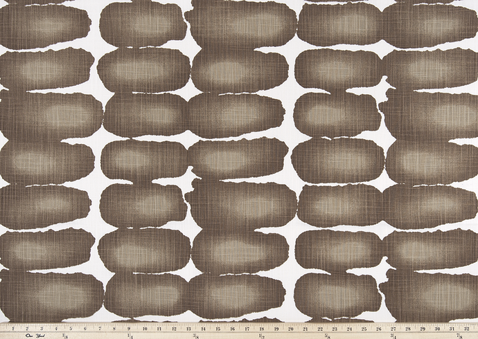 brown shibori dot fabric photo