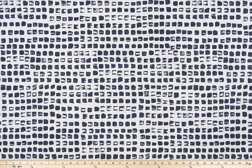 picture of repeating square pattern printed on fabric