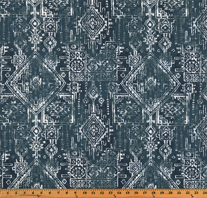 Sioux Premier Navy Fabric By Premier Prints