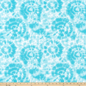 Spiral Girly Blue Fabric By Premier Prints