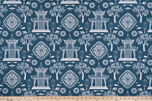 Spirit Regal Navy Slub Canvas Fabric By Premier Prints