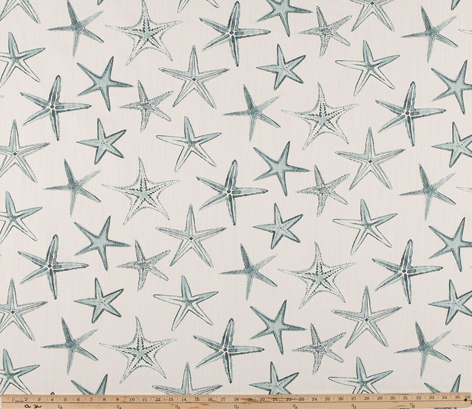 Photo of Blue Green Starfish Fabric