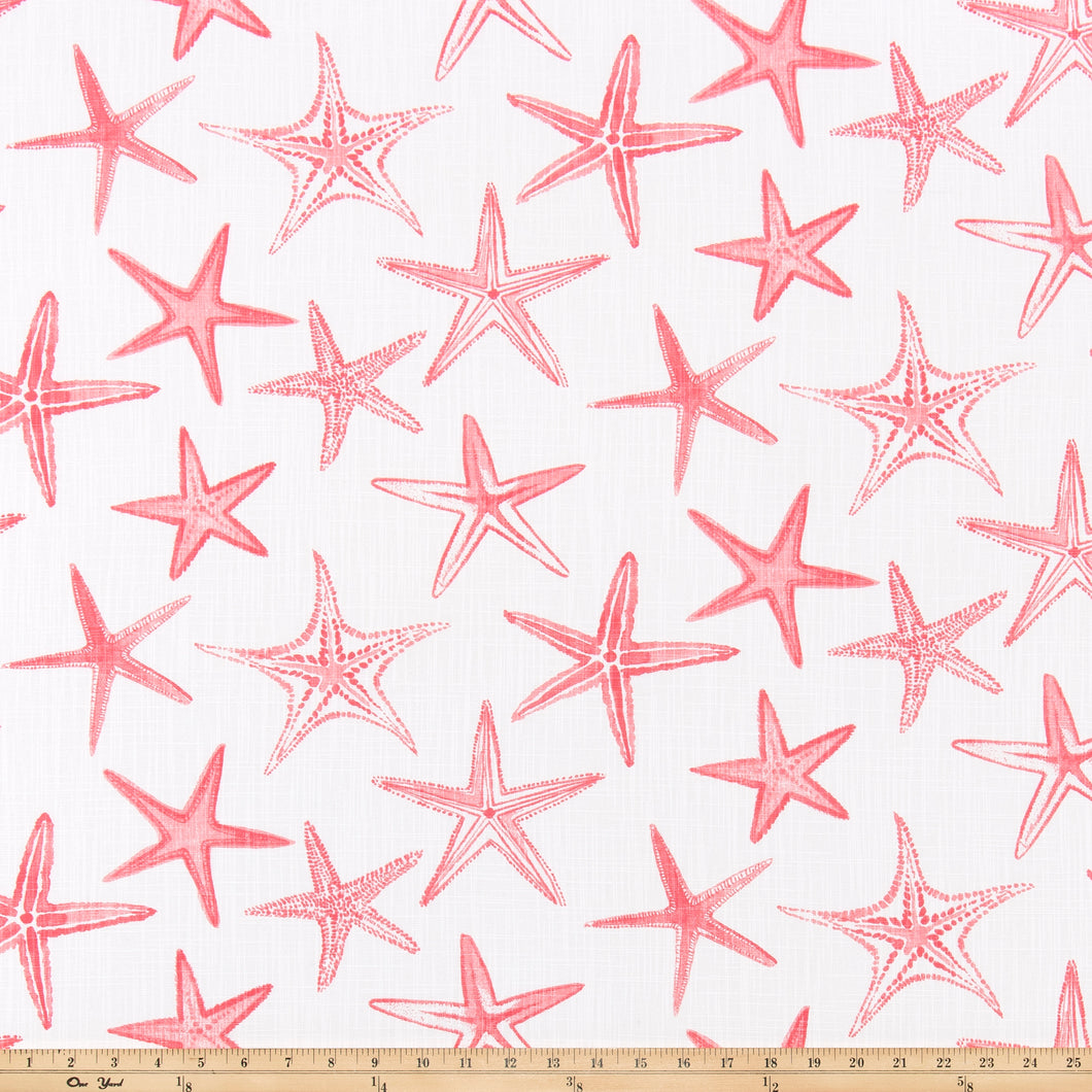 Scott Living - Starfish Sunset Coral Luxe Canvas