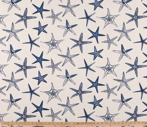 Photo of Navy Blue Starfish Fabric