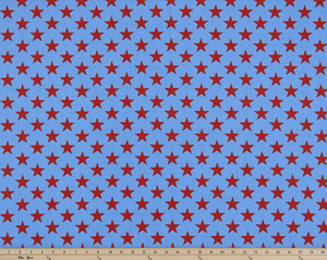 Picture of Red Star on blue fabric
