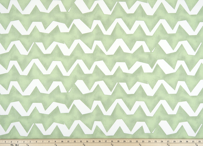 Strike Sundown Green Fabric By Premier Prints
