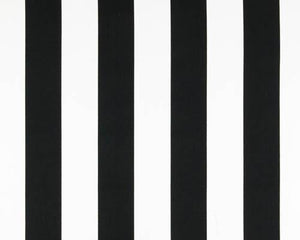 Stripe Black White Fabric By Premier Prints