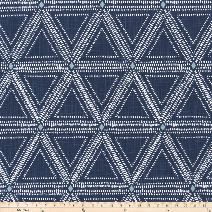 Tessa Denim Luxe Canvas Fabric By Scott Living