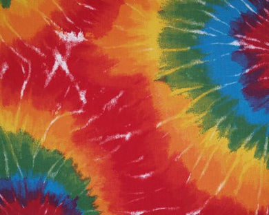Photo of tie dyed printed fabric