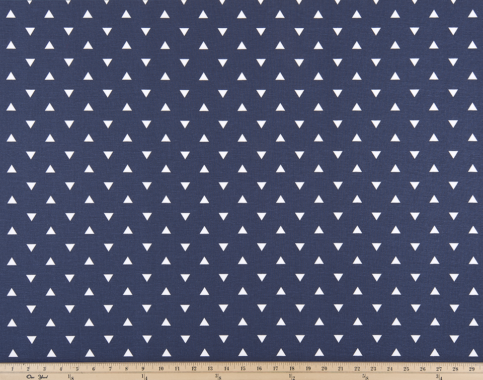 Triangle Vintage Indigo Fabric By Premier Prints