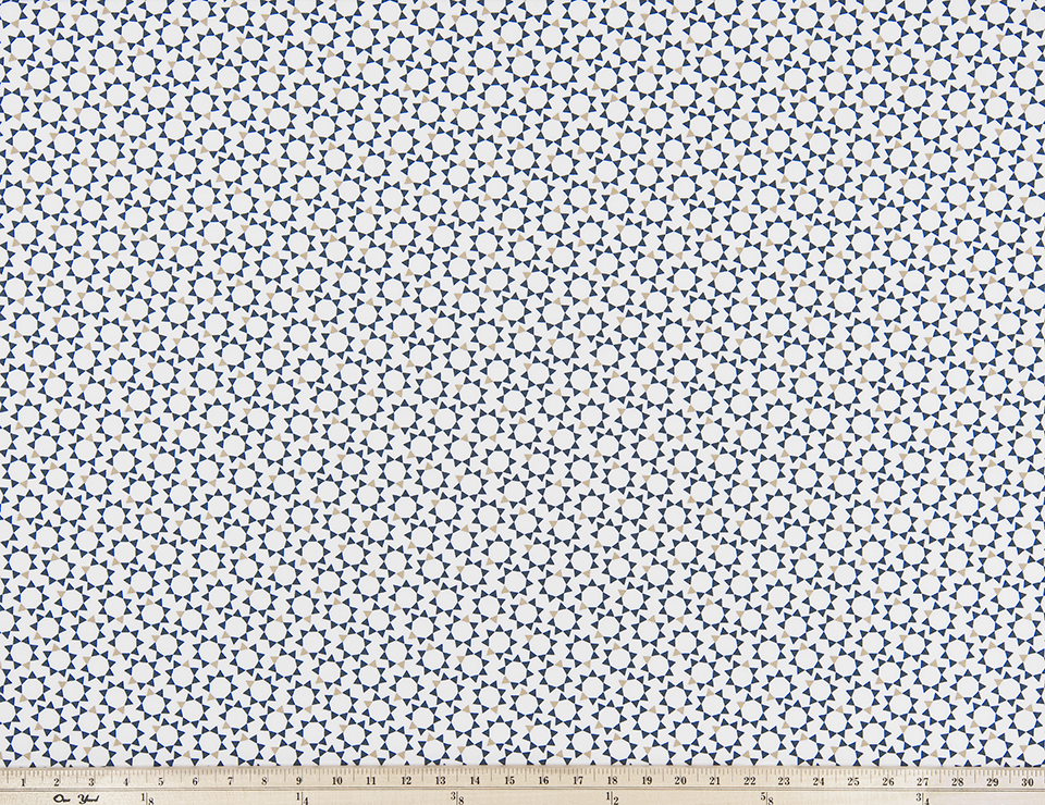 Troy Spruce Blue Fabric By Premier Prints