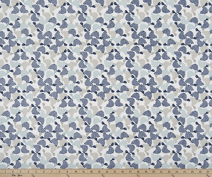 Turtle Trail Vintage Indigo Fabric By Premier Prints