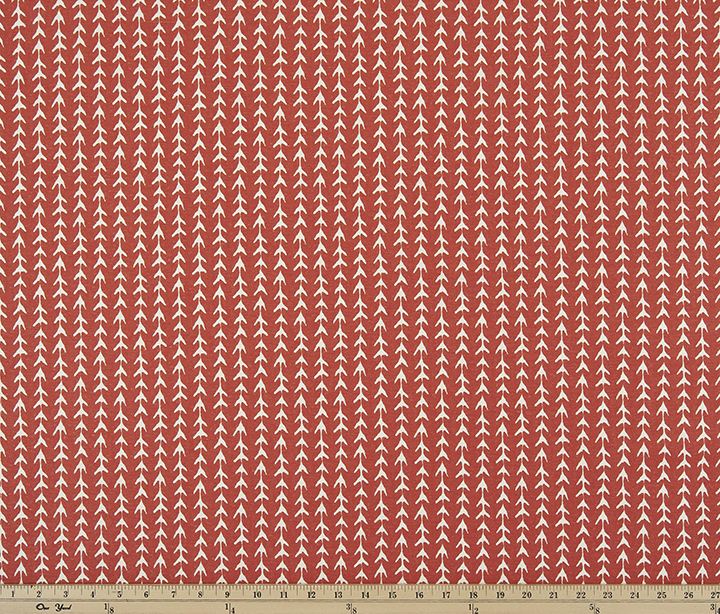 Vine Formica Red Macon Fabric By Premier Prints