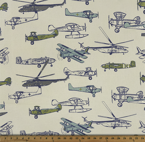 Vintage Air Felix Natural Fabric By Premier Prints