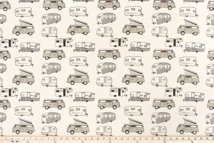 Vintage Camper Lead Macon Fabric By Premier Prints