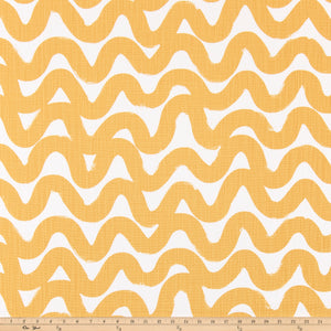Wavy Brazilian Yellow Slub Linen Fabric By Premier Prints