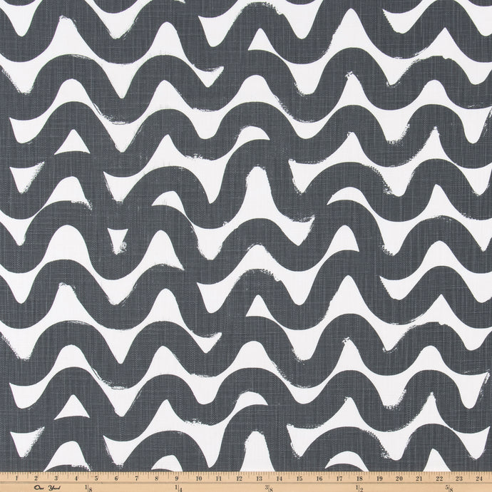 Wavy Iron Slub Linen Fabric By Premier Prints